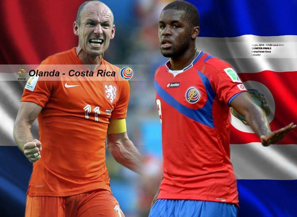 Olanda-Costa Rica, l'occasione di Robben e Van Persie