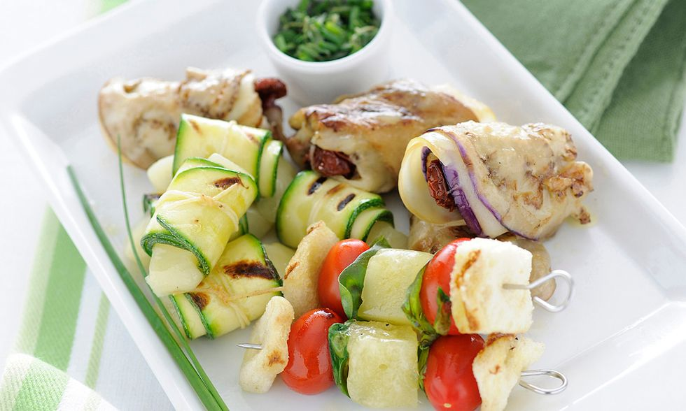 Ricette d'estate: grigliata vegetariana al formaggio