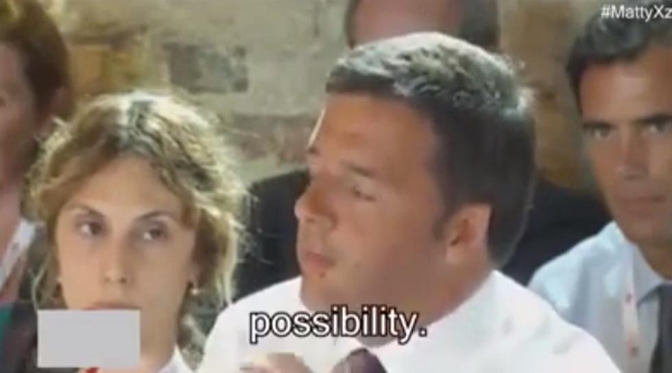 Renzi e l'inglese con i sottotitoli