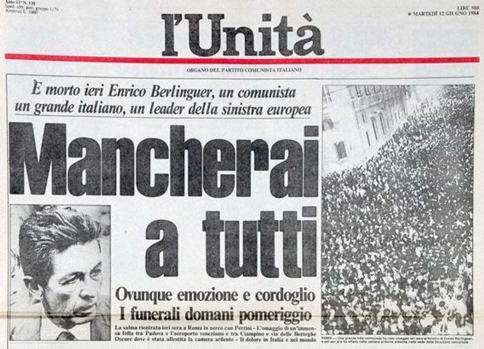 L'Unità: fondata da Gramsci, affondata da Renzi