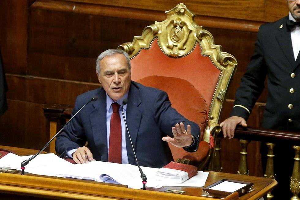 La gaffe di Grasso al Senato