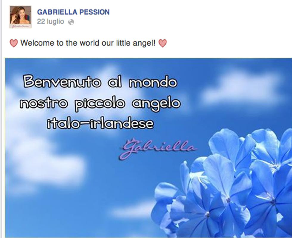 Gabriella Pession è diventata mamma