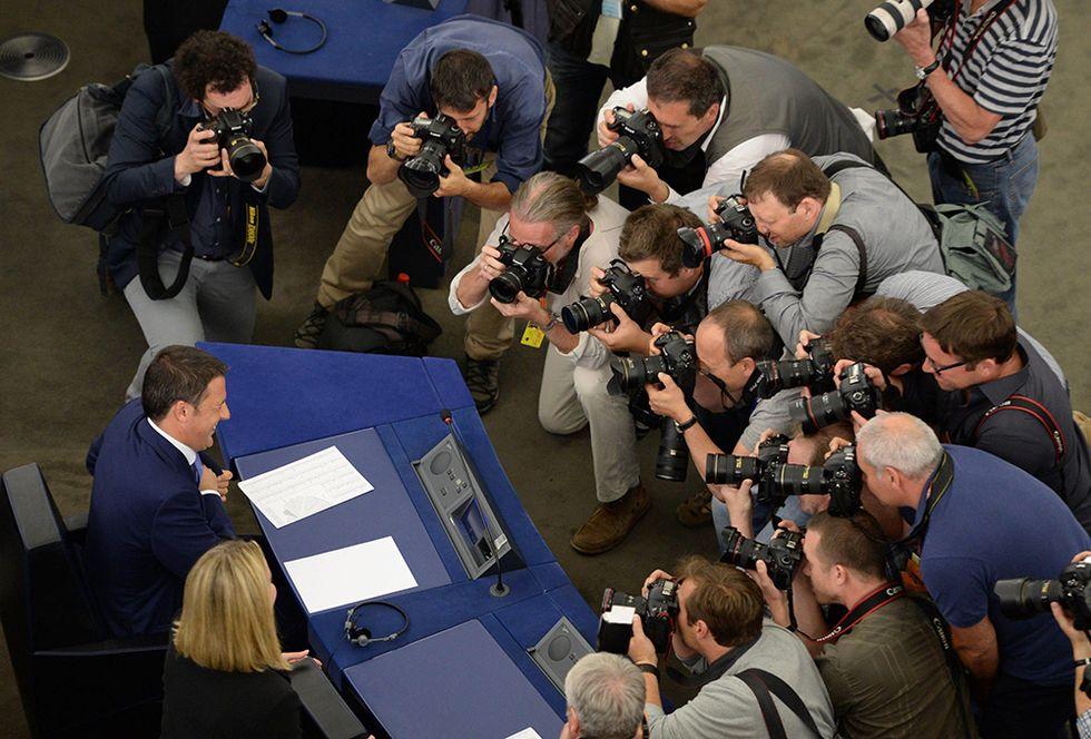 Matteo Renzi al Parlamento europeo e altre foto del giorno, 02.07.2014