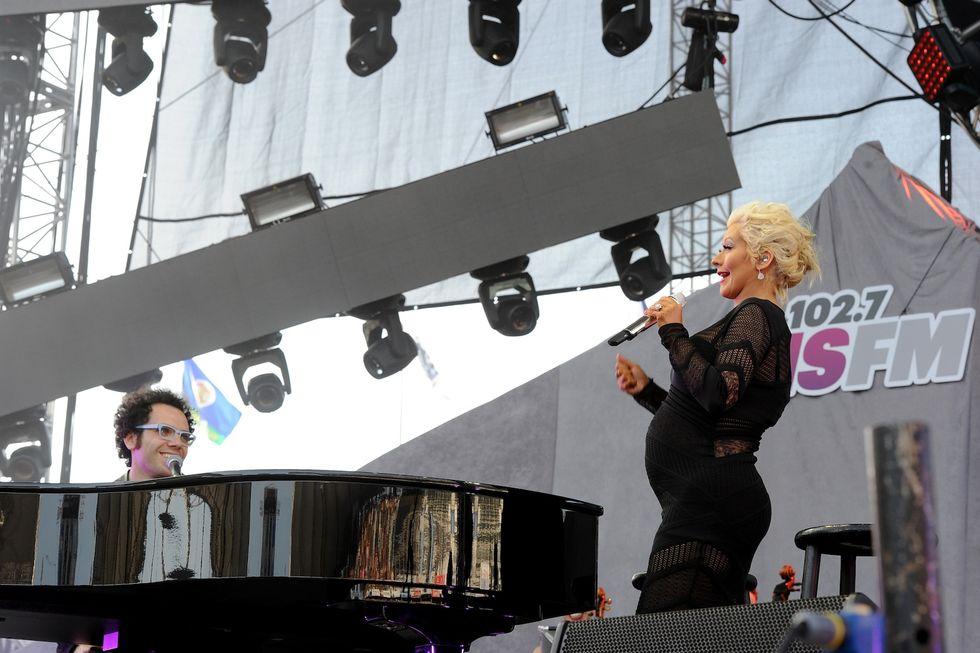 Christina Aguilera mamma bis