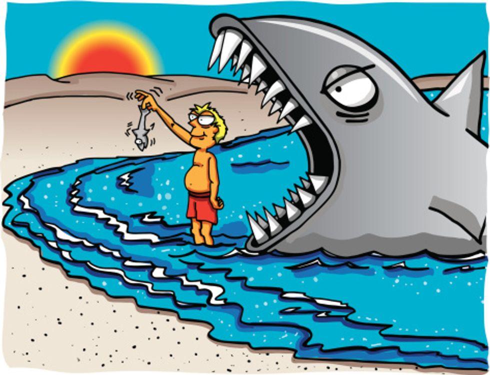 Storia di un popolo pagliaccio che si crede uno squalo