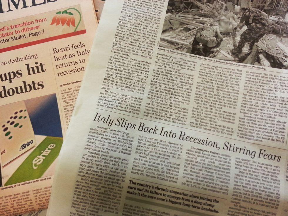 La recessione italiana vista dalla stampa estera