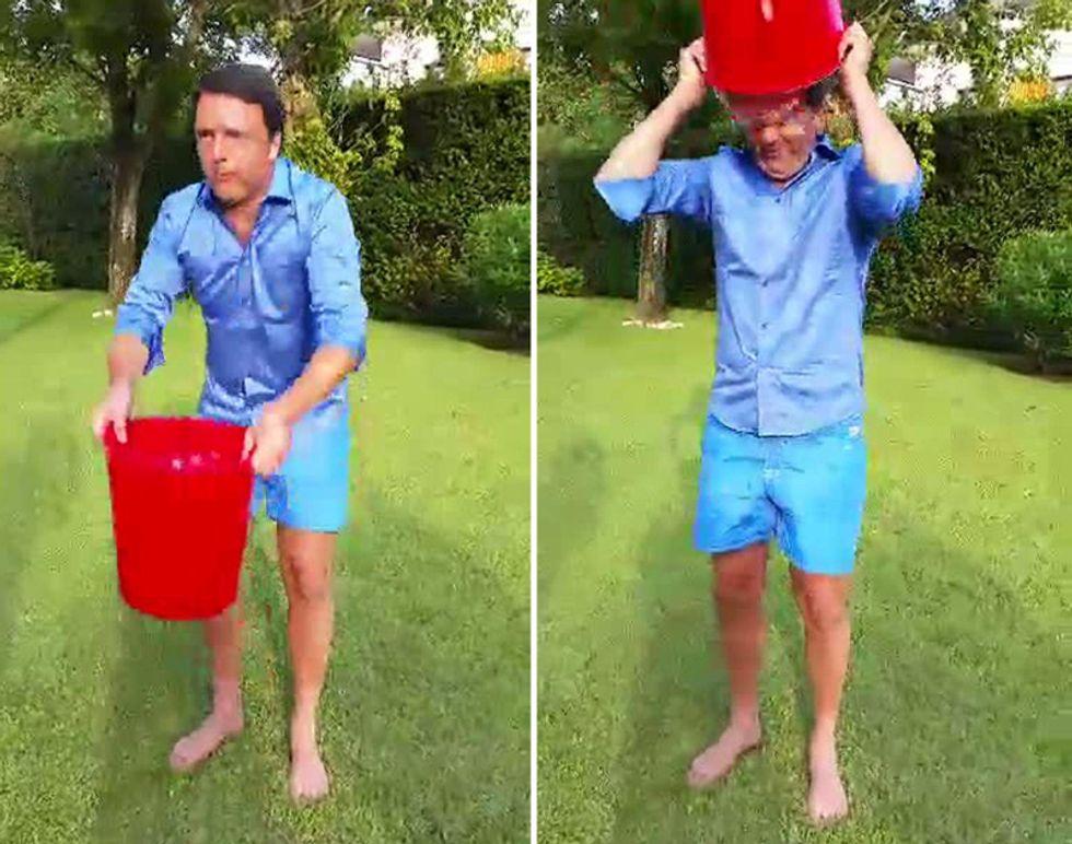 Lo spirito dell'Ice Bucket Challenge, e quello di Renzi