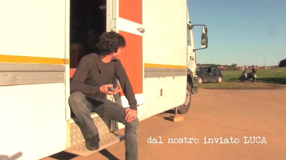 Fratelli unici, Luca Argentero nel backstage del film
