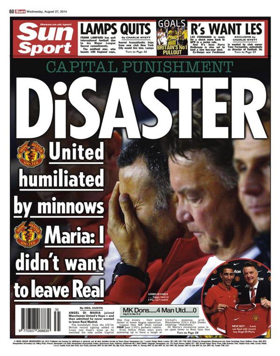 Figuraccia United: fuori contro il Milton KD (che costa 1.463 volte in meno)