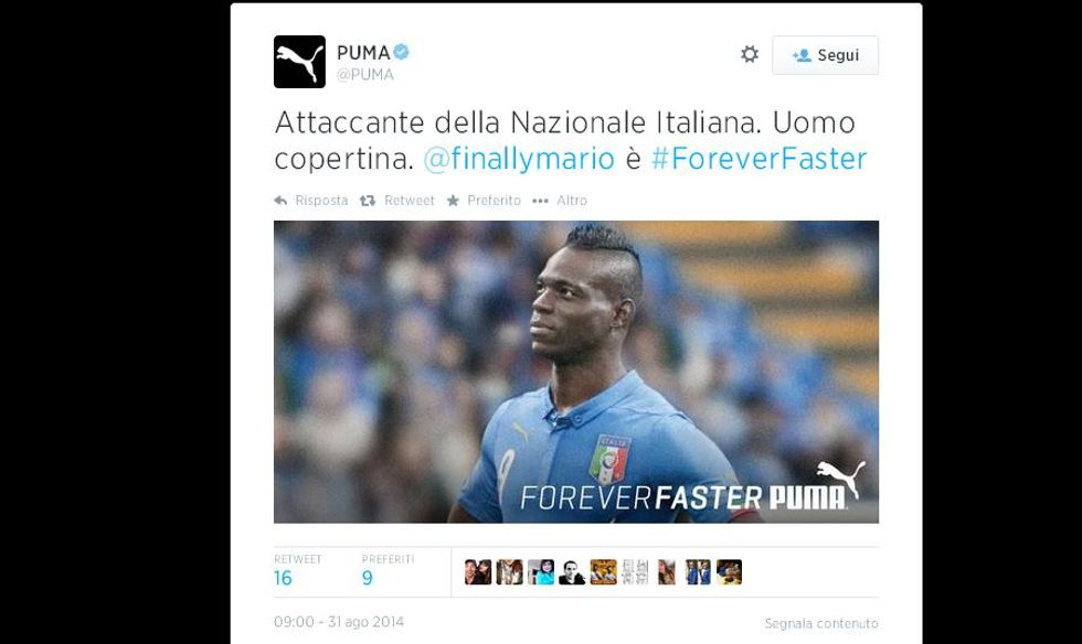 Conte lo esclude e Puma convoca Balotelli...
