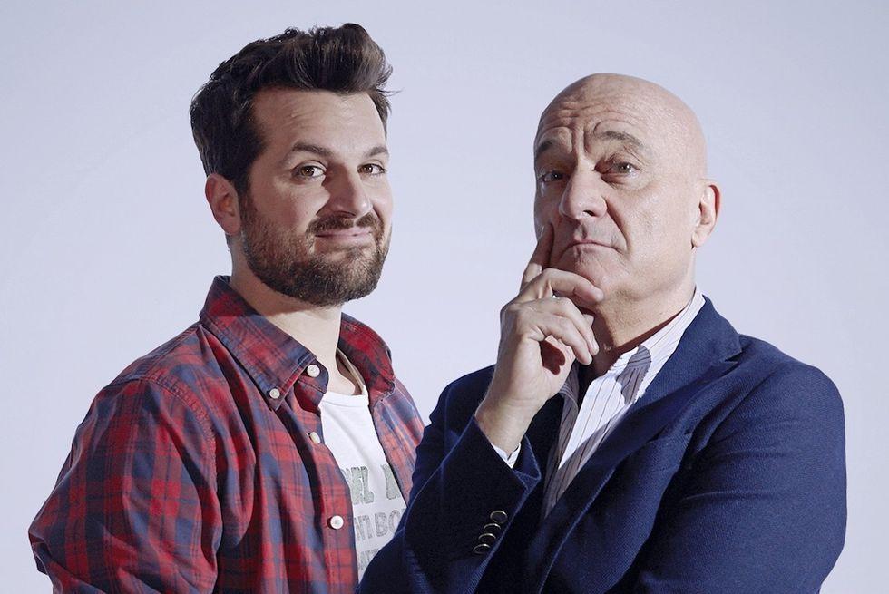 The Comedians Claudio Bisio e Frank Matano