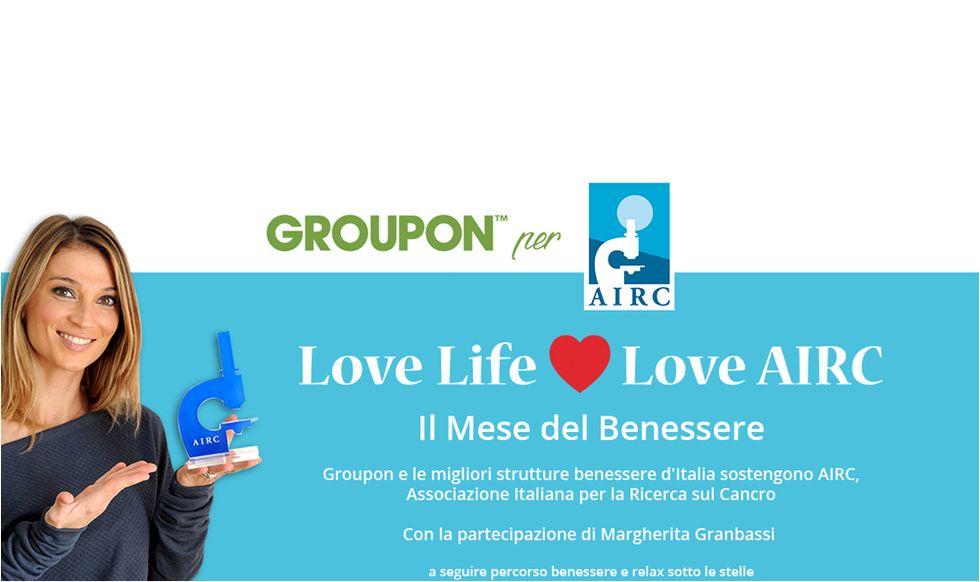 Groupon incontra la solidarietà: 3 euro all'AIRC per ogni coupon benessere