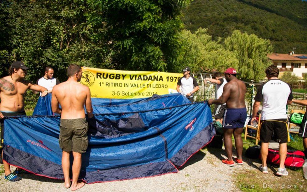 Il duro ritiro del Rugby Viadana