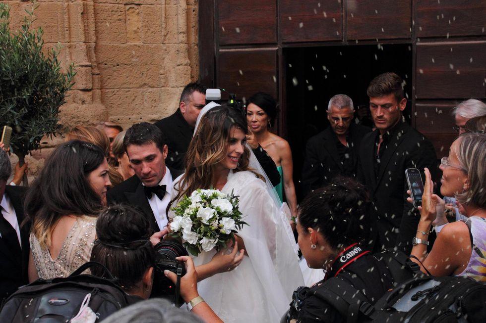 Elisabetta Canalis sposa in bianco