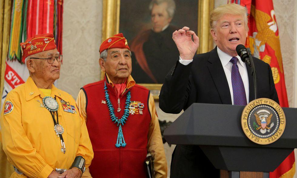 Il presidente Trump e i nativi