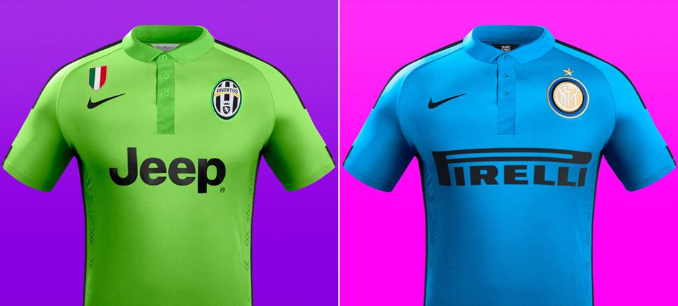 Juve e Inter: la terza maglia è fluo