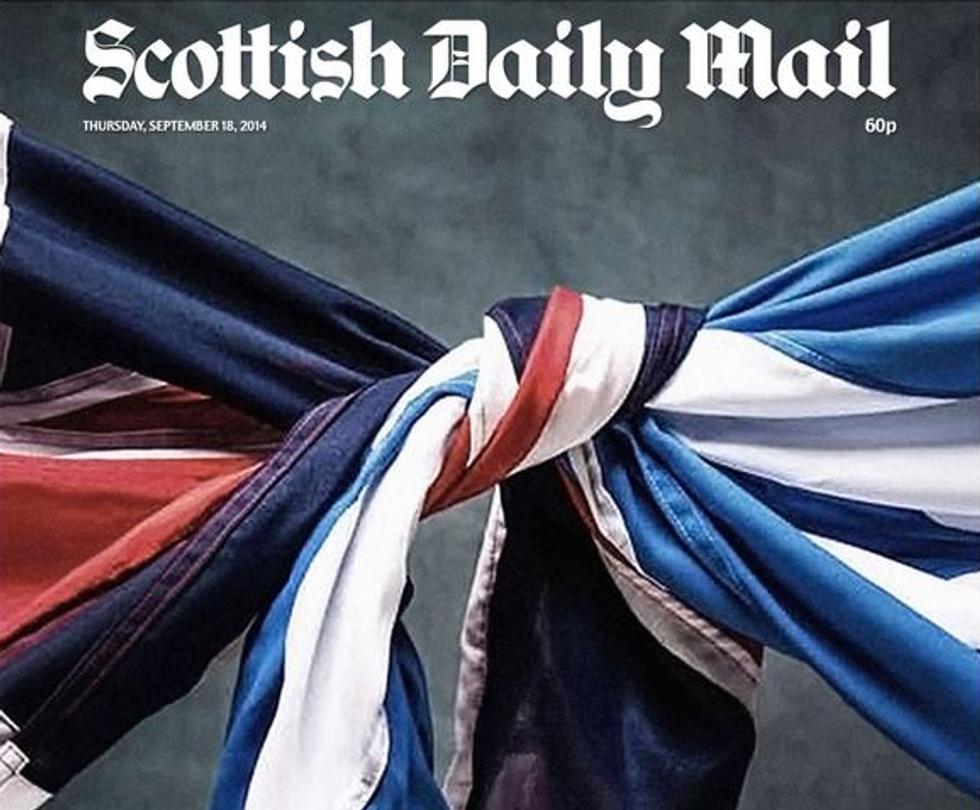 Scozia al voto: le prime pagine dei giornali inglesi