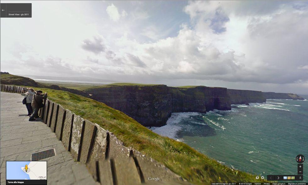 Google Street View sulle Scogliere di Moher