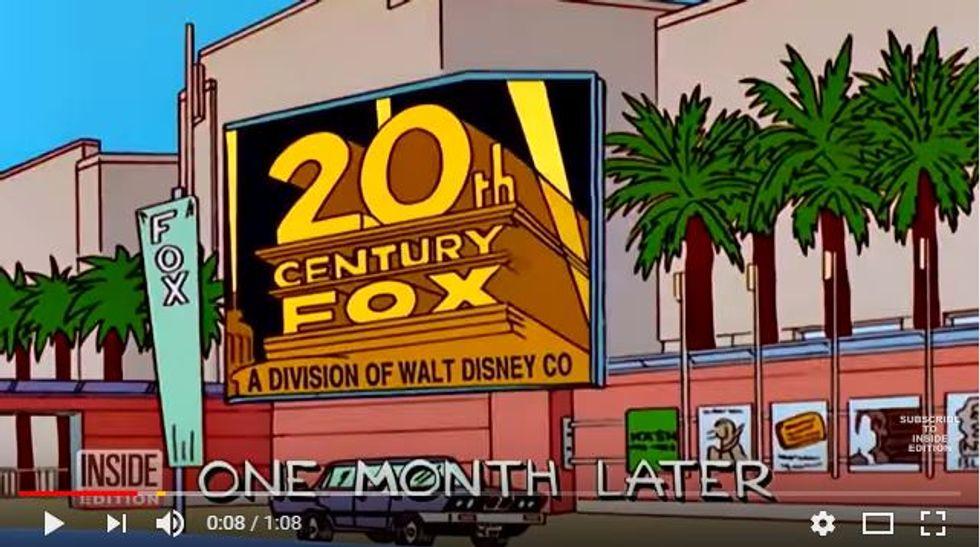 """I Simpsons avevano """"predetto"""" la fusione tra Fox e Disney"""