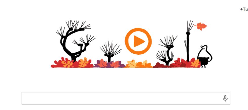 Un doodle per l'equinozio d'autunno