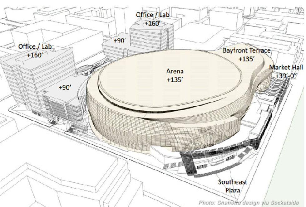 Nba: la nuova arena dei Warriors? Un wc!