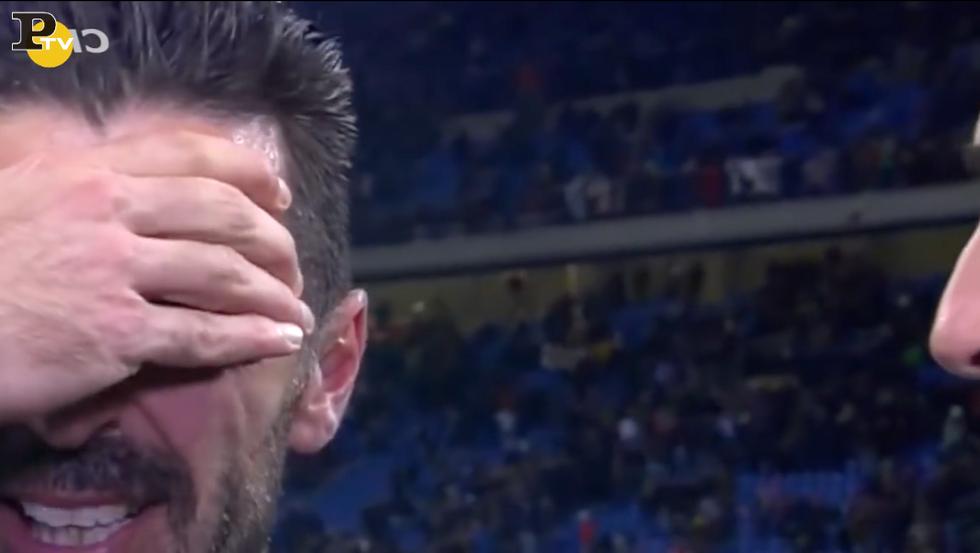 buffon piange italia-svezia spareggio mondiali calcio russia 2018