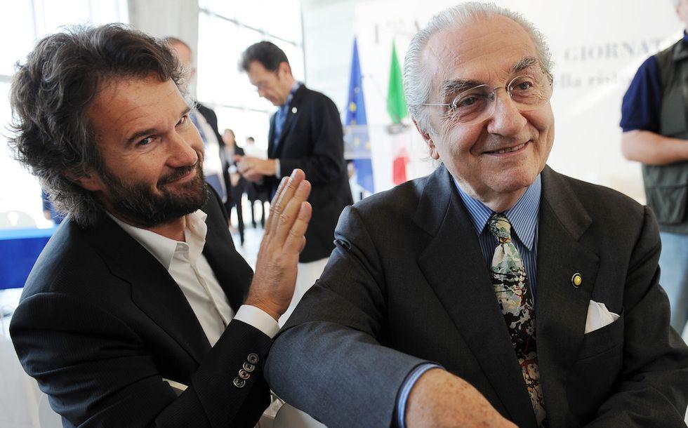 Carlo Cracco e Gualtiero Marchesi