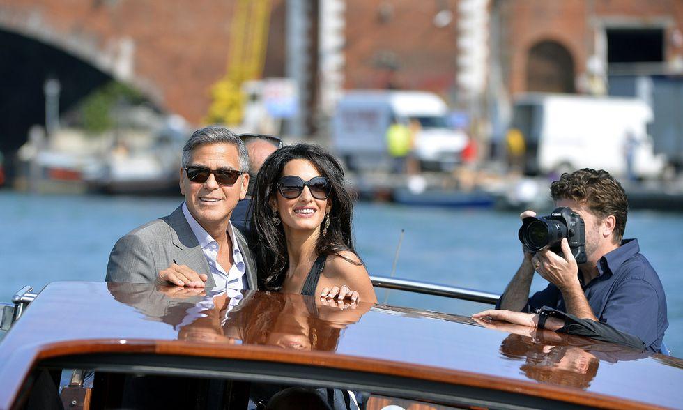 Clooney a Venezia per le nozze e altre foto del giorno, 26.09.2014