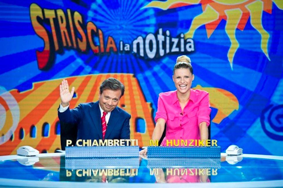 Striscia la notizia, tornano Michelle Hunziker e Piero Chiambretti