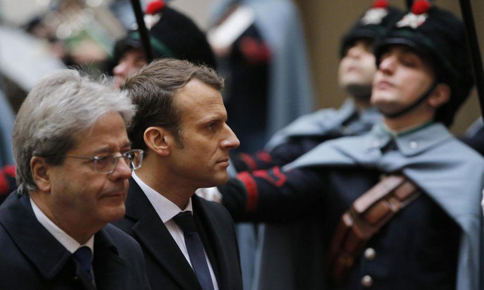 Emmanuel Macron a Roma