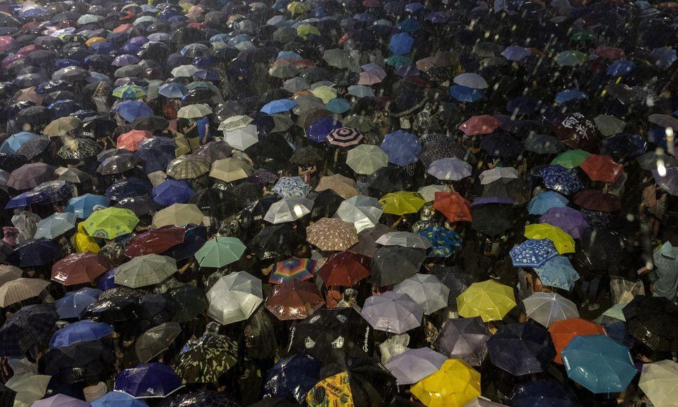 La bellezza della protesta a Hong Kong
