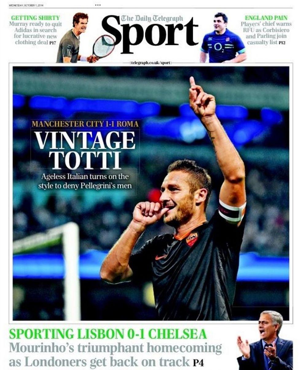 La leggenda di Totti sui giornali del mondo