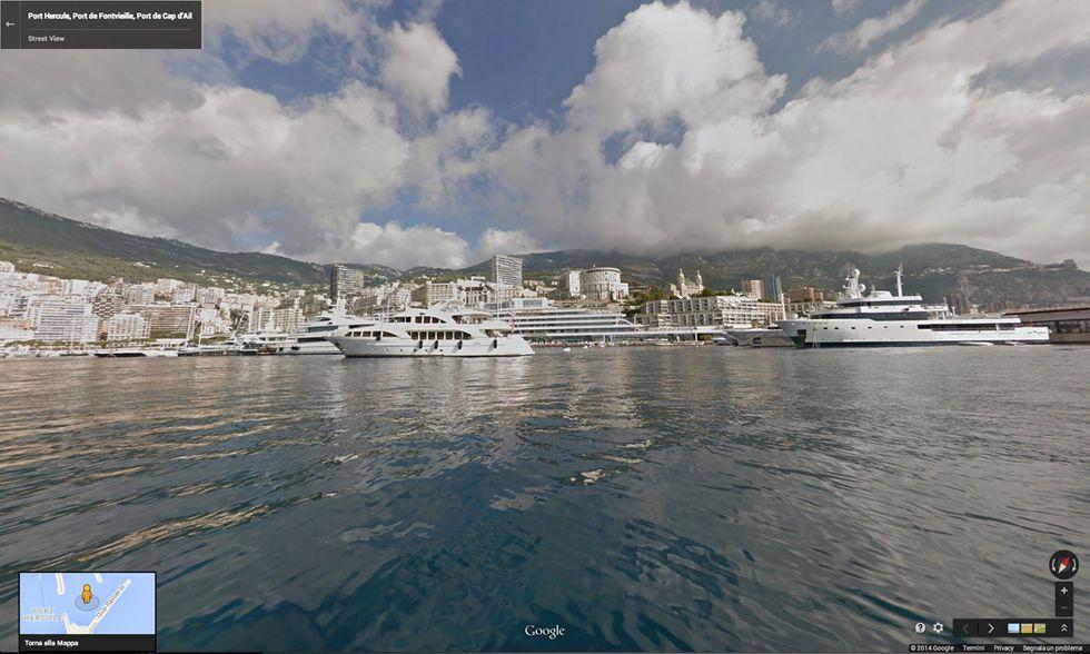 Google Street View nei porti della Costa Azzurra