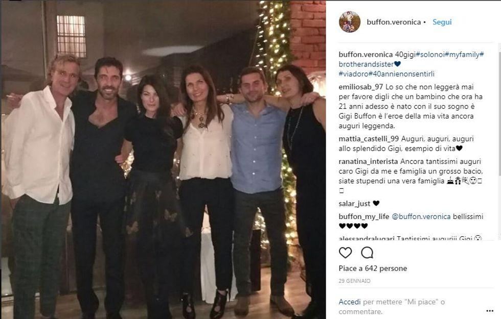 Gigi Buffon compie 40 anni. Gli auguri e la festa
