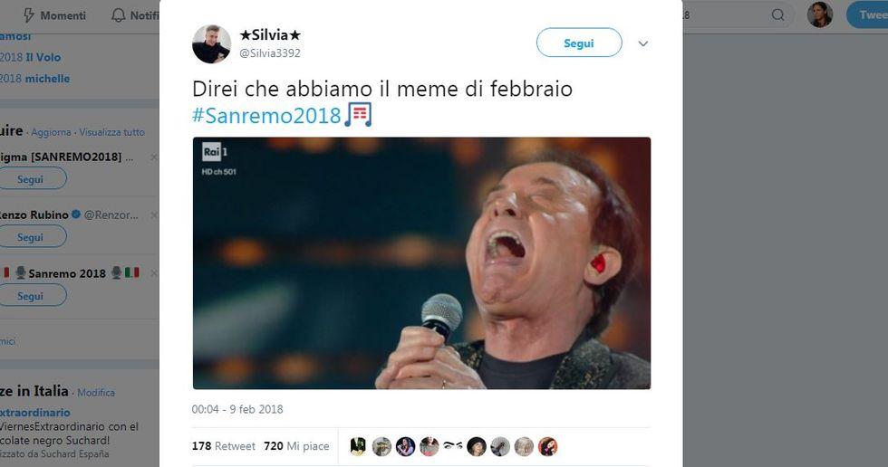 Sanremo 2018, i migliori tweet della terza serata