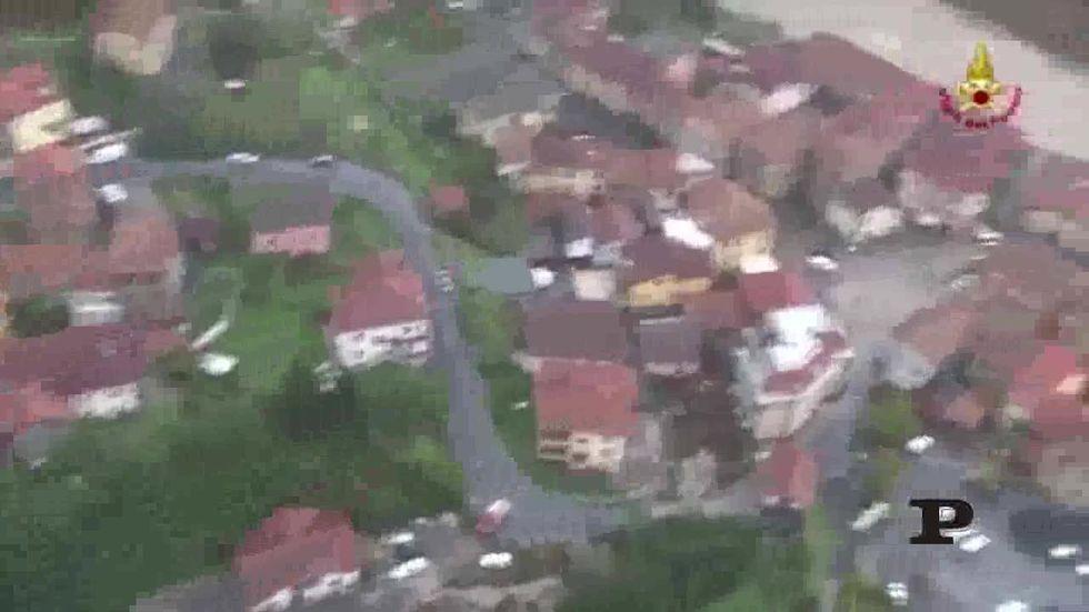Genova dopo l'alluvione vista dall'alto