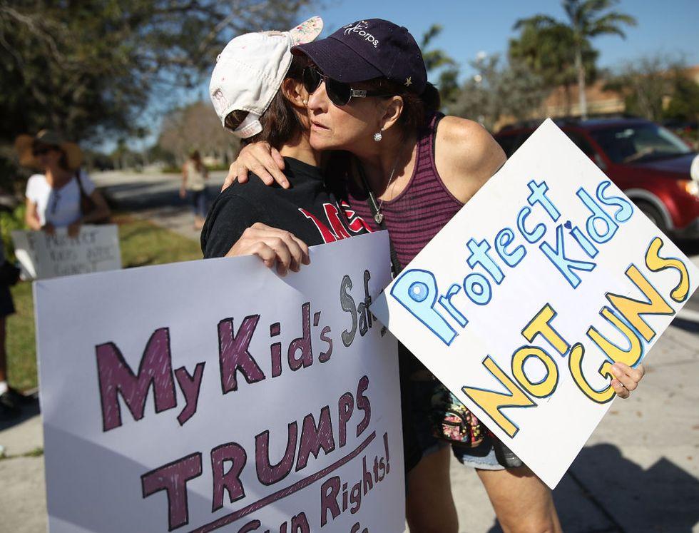 Strage di San Valentino: i liceali di Parkland in marcia contro Trump - Foto