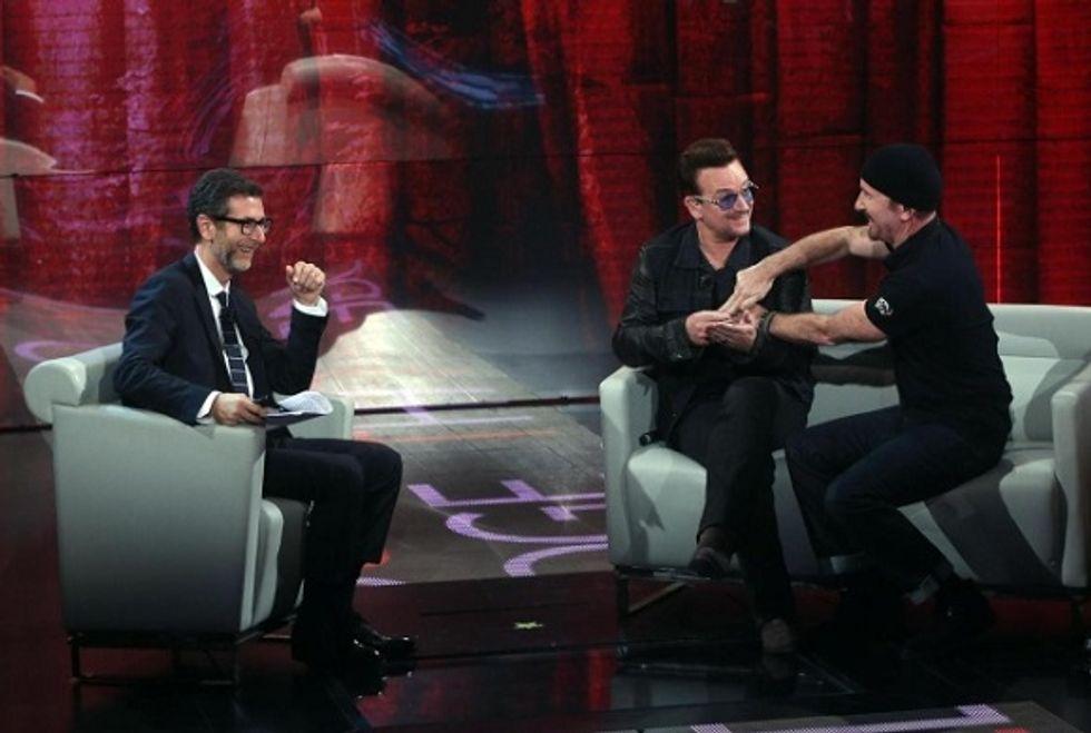 Ascolti 12/10: Fazio vola grazie agli U2