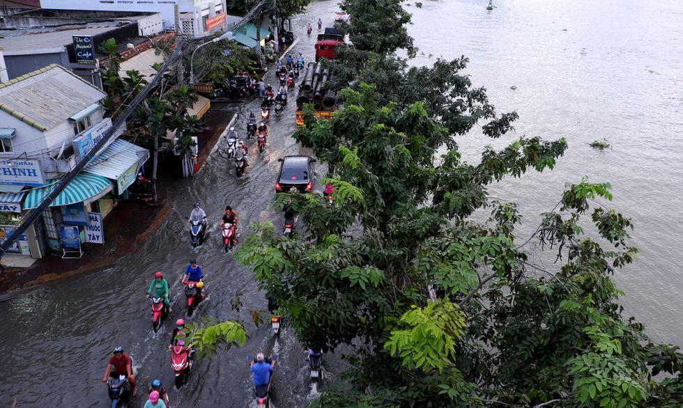 strada allagata