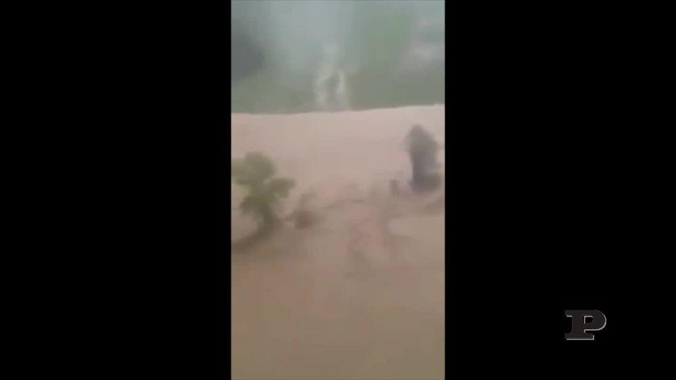 Alluvione in Maremma: le immagini dall'elicottero