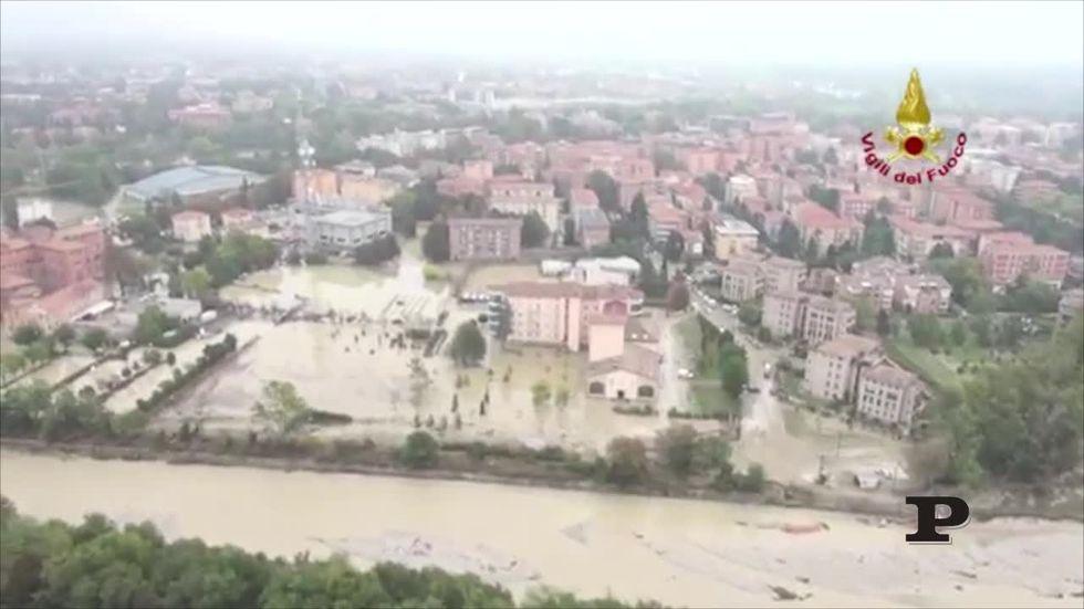 Alluvione Parma: le immagini dall'alto