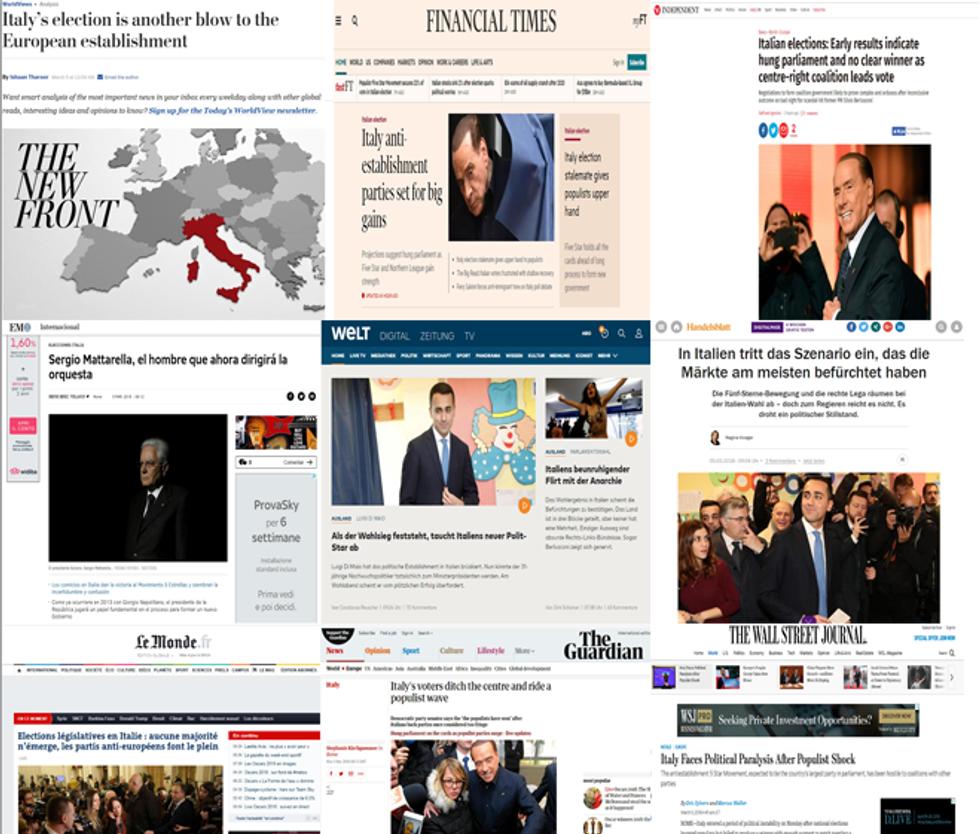 Elezioni politiche 2018: le reazioni della stampa estera
