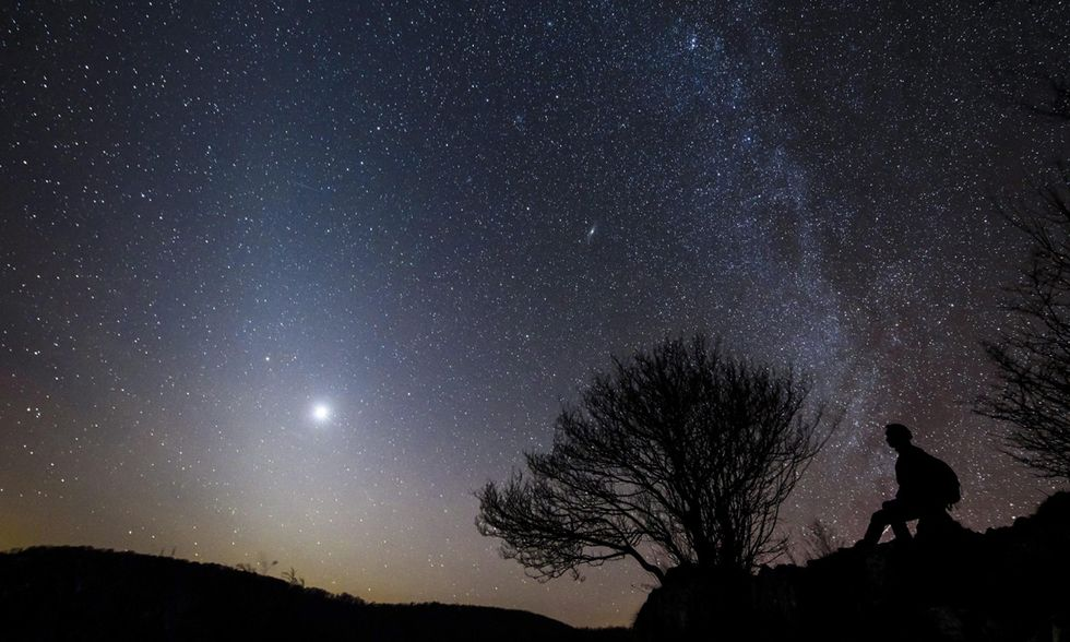 La luce zodiacale nel cielo d'Ungheria