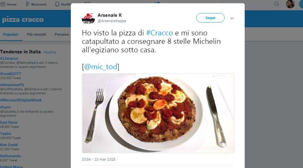 Rivolta social contro la pizza di Carlo Cracco