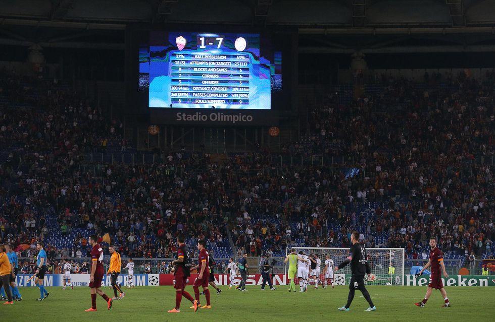 Roma, che umiliazione. Il Bayern passeggia sul calcio italiano