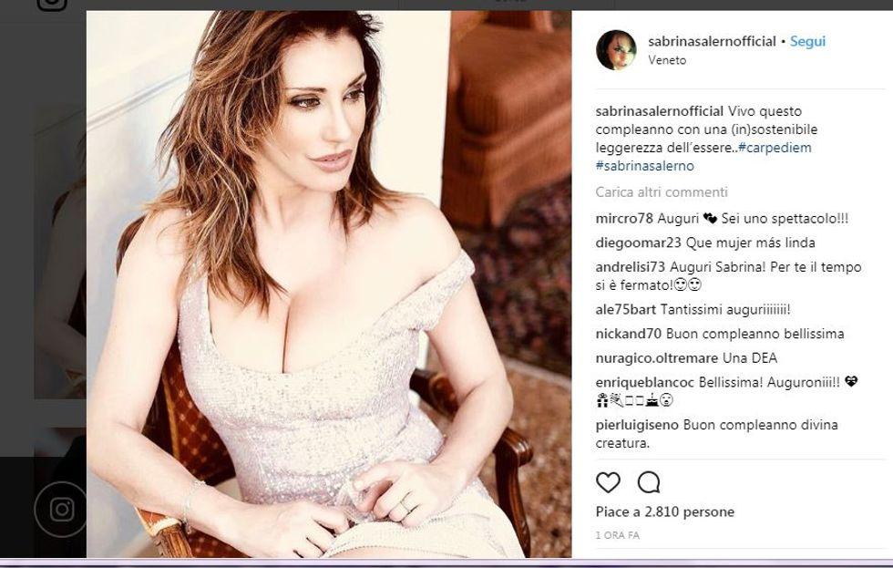 Il post di compleanno di Sabrina Salerno