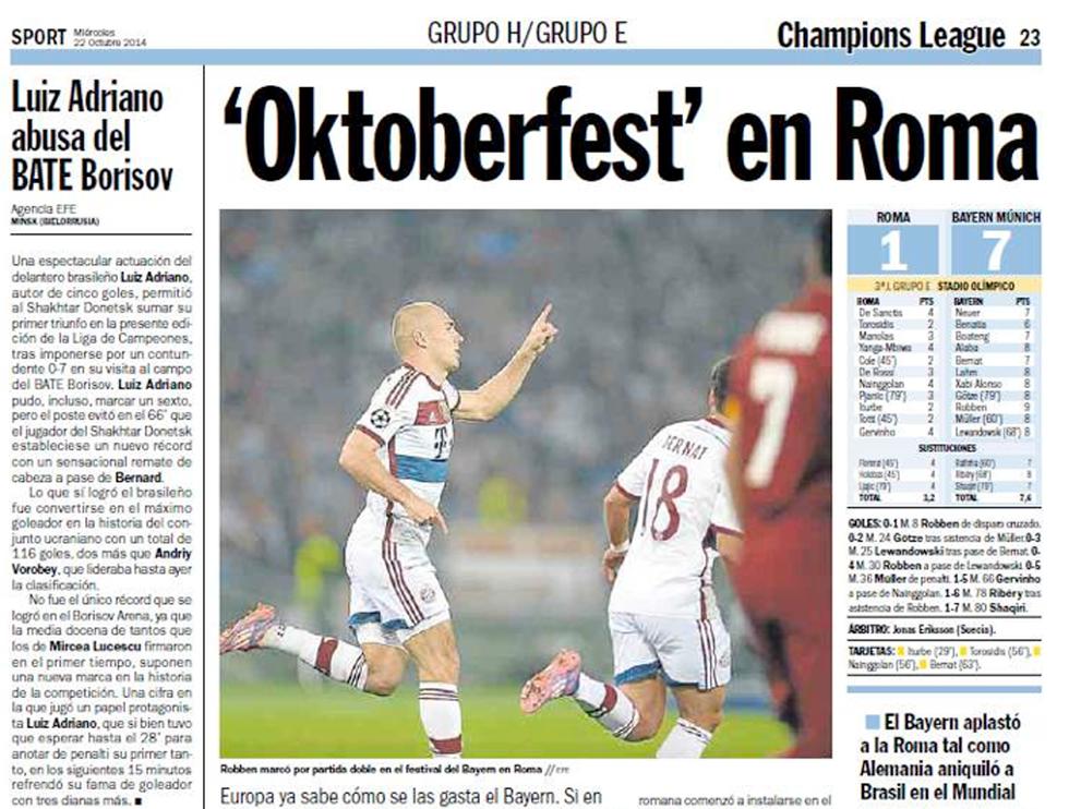 Roma - Bayern, il disastro visto da Twitter