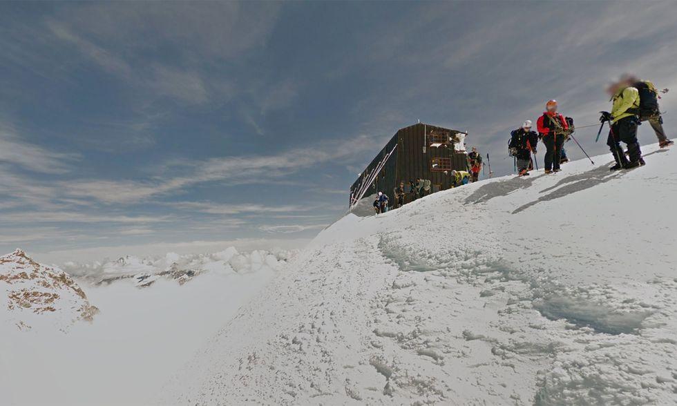Google Street View nel rifugio alpino più alto d'Europa