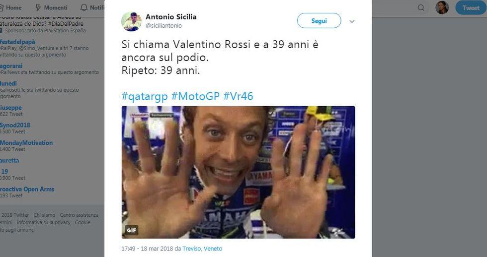 Entusiasmo social per il podio del MotoGP in Qatar - I tweet più belli