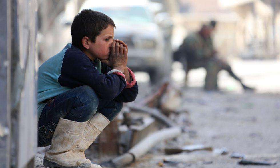 Ragazzino siriano